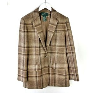 Lauren Ralph Lauren 100% wool plaid blazer